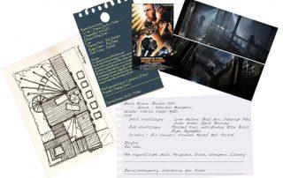 London Garden Design Ideas: concept drawing inspired by Ridley Scott's 'Blade Runner'