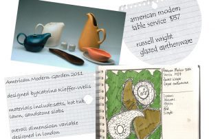 London Garden Design Concept Sketch: Amercian Modern Dinner Service