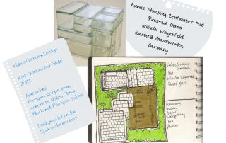 London Garden Design Concept Sketch: Kubus Stacking Containers
