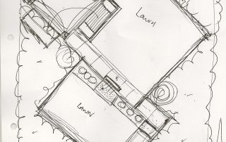 Hertfordshire garden design sketch