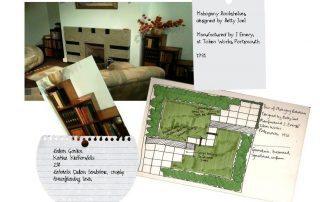 Garden Design inspirations - mahogany bookshelves