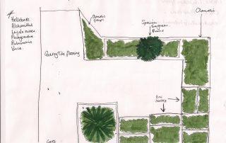 Sketch for front garden design
