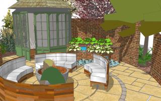 Earth Designs modern family garden with a summer twist