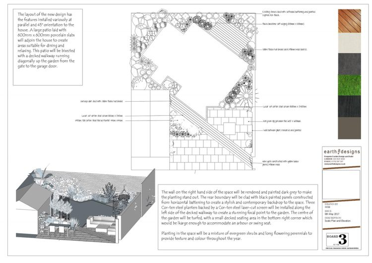 A scale plan tells the story of the space