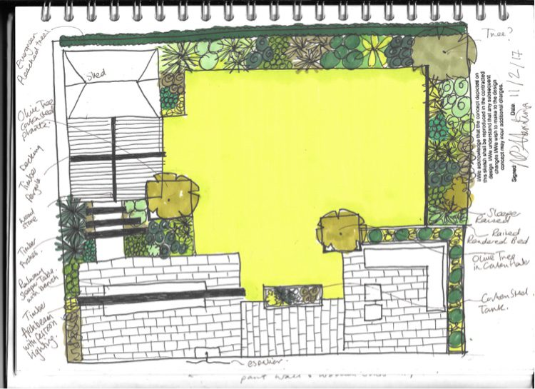 Katrina came up with a lot of ideas for the Billericay Garden design