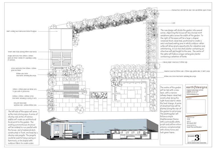 Scale plan  of the Billericay Garden Design
