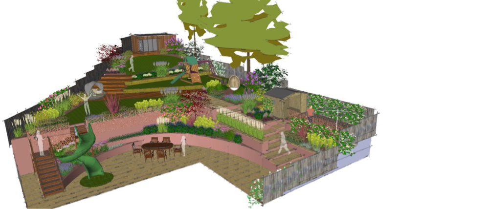 The plot has more terraces created.
