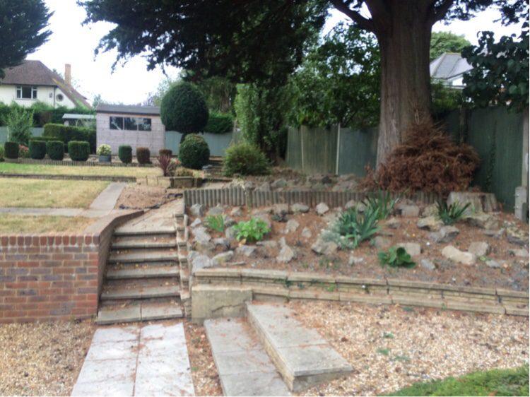 This garden was in need of a Loughton garden designer