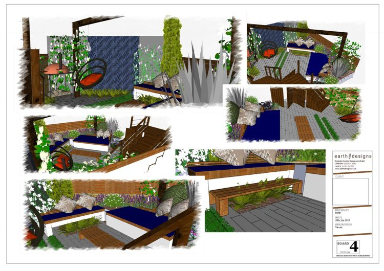 Visuals show the themes of the garden