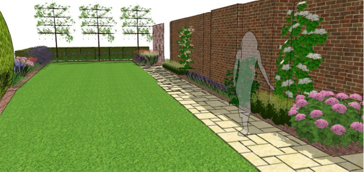pleached trees help at the front