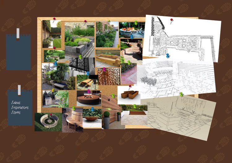 raised planters, various levels and divine boundaries