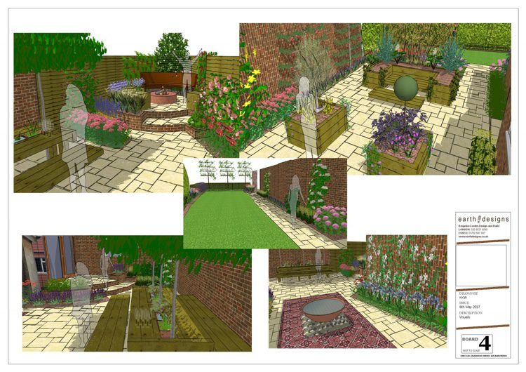 various angles tell the story of the garden