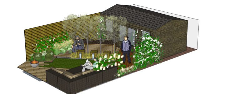 The layout for this east london garden design