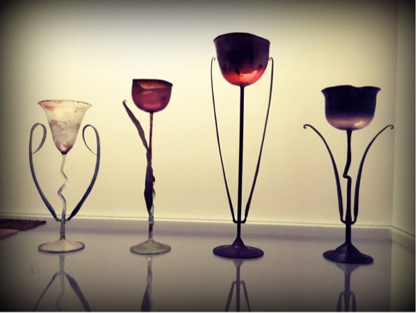 Beautiful glasses at the Denmark Museum Denmark