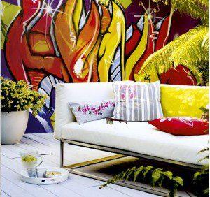 Garden graffiti art