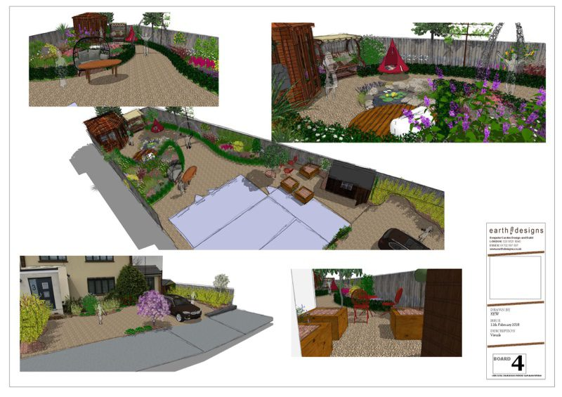 Visuals of the garden explain the space