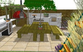 cooking friendly garden design - al fresco dining