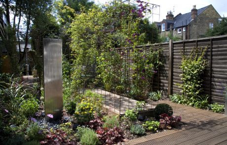 View of the new garden in the first year -Bedford Road Story