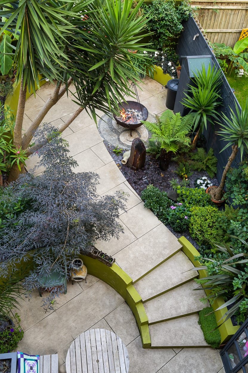 Curving Garden Steps ED293 - Botanical Garden Design Isle of Dogs