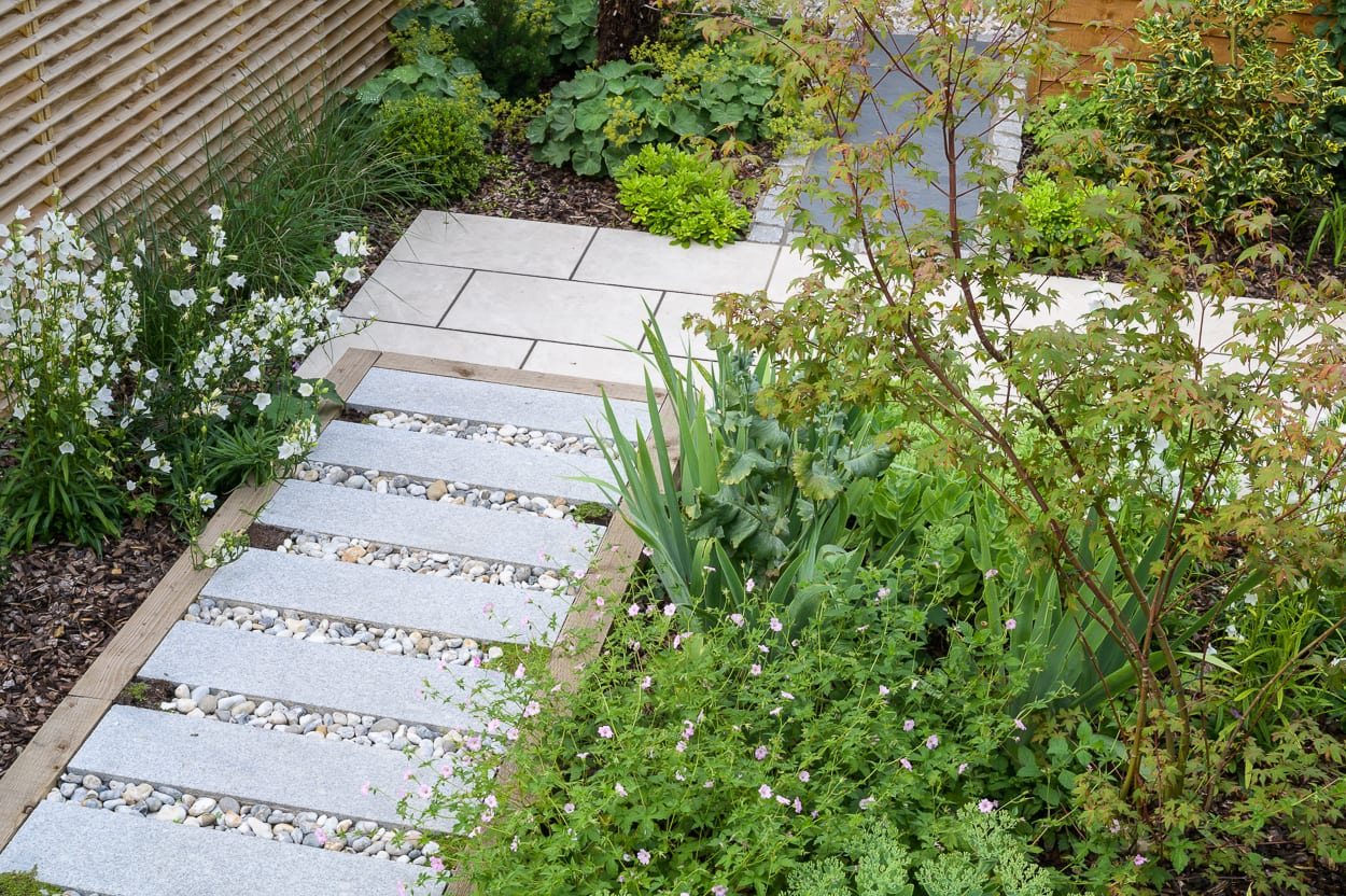 green and white planting ED286 - Sanctuary Garden Design in London