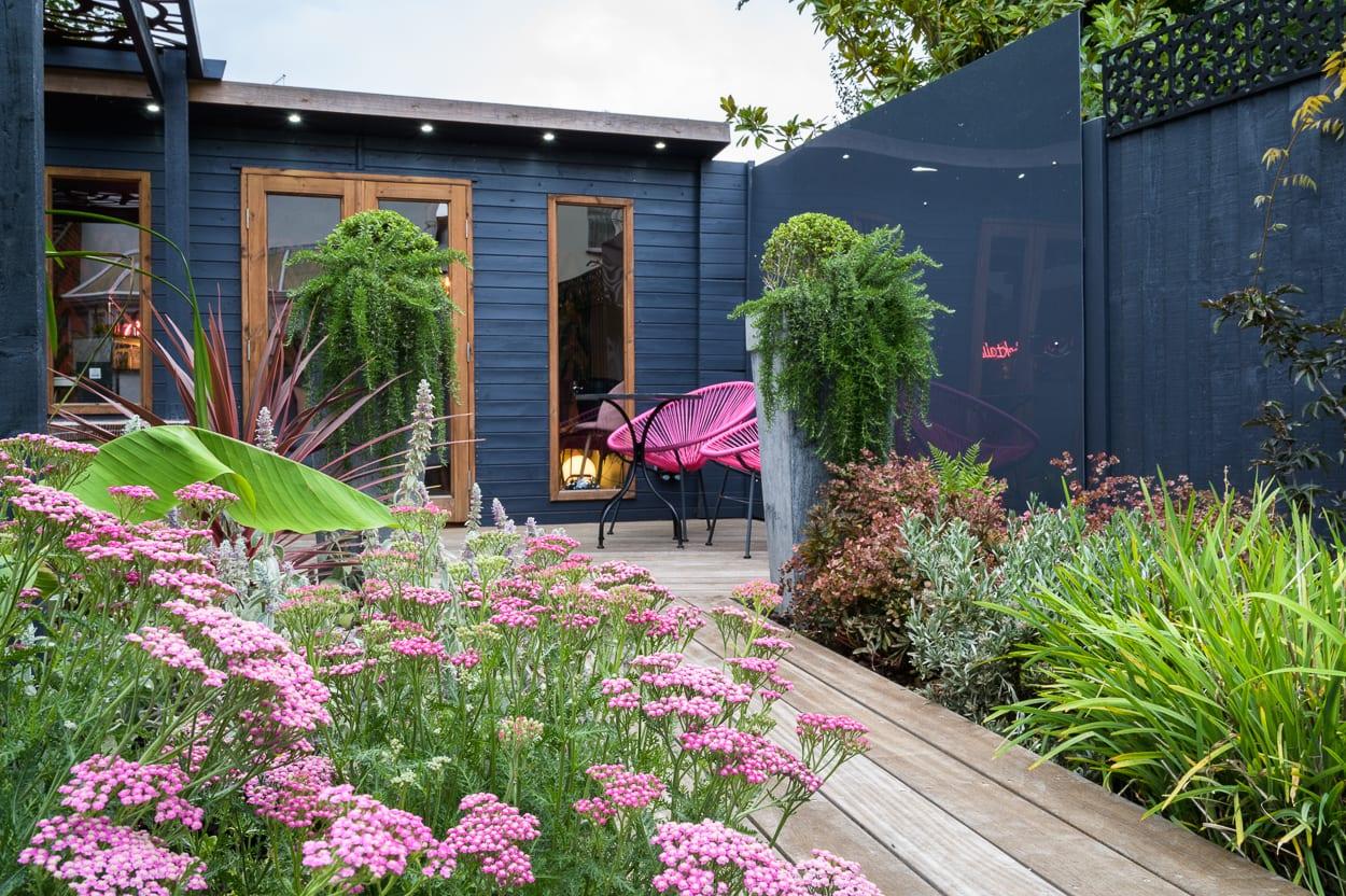 pink planting John & Ant - Essex Urban Garden Design